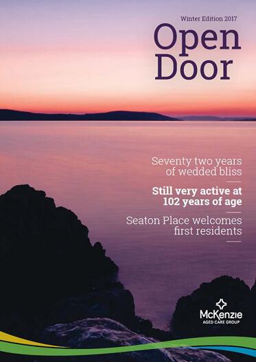 Front cover Open Door magazine Winter 2017