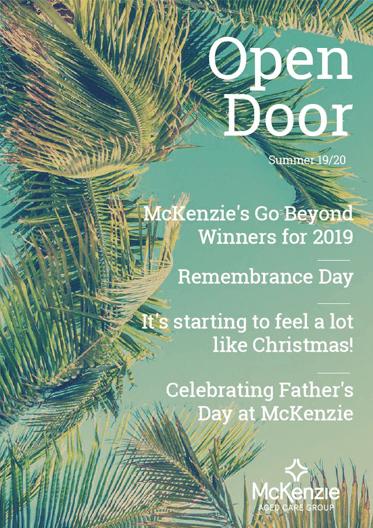 Front cover Open Door magazine Summer 2019/20