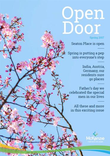 Front cover Open Door magazine Spring 2017