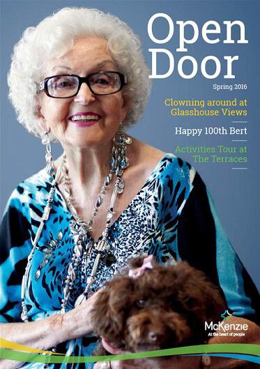 Front cover Open Door magazine Spring 2016