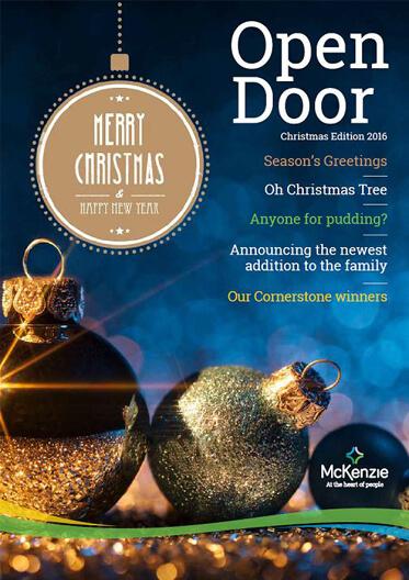 Front cover Open Door magazine Christmas 2016
